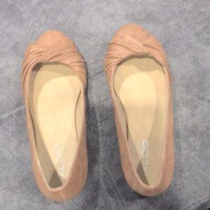 Light brown ballet flats